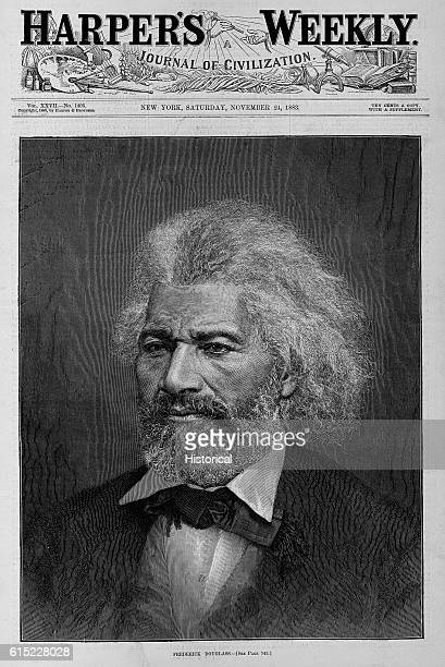 Harper's Weekly Magazine Cover with Portrait of Frederick Douglass