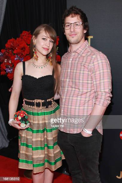 Harpist Joanna Newsom and actor Andy Samberg arrive at MasterCard Priceless Premieres presents Justin Timberlake at Roseland Ballroom on May 5 2013...