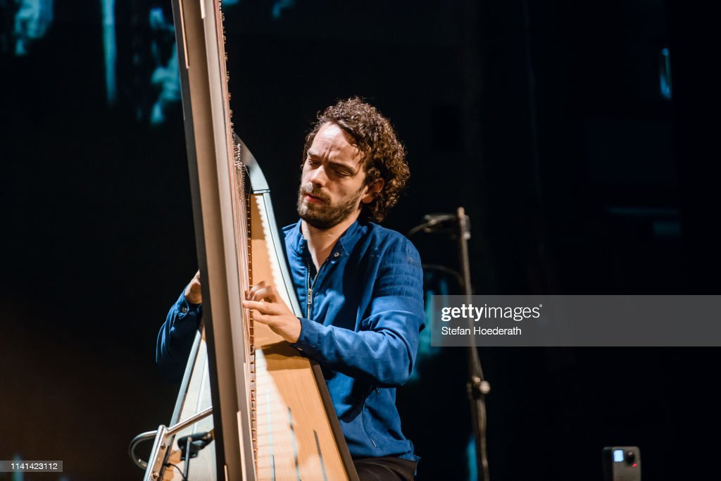 Harpist Remy Van Kesteren Performs Live On Stage During