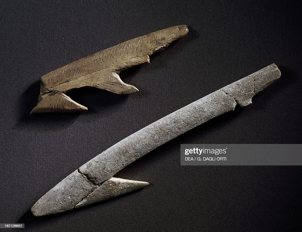Harpoons used for fishing by Nilotic communities... : News Photo