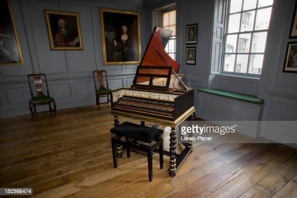Harpsichord in Handel House.