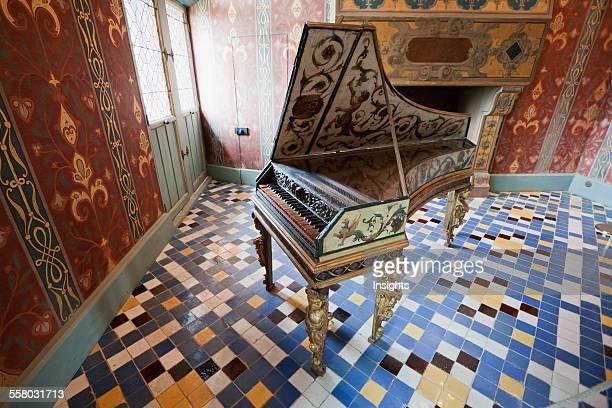 Harpsichord In The Queen's Gallery Chateau De Blois Blois France