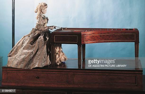 Harpsichordist automaton created by David Roentgen and Peter Kintzing Germany 18th century Paris Conservatoire Des Arts Et Métiers