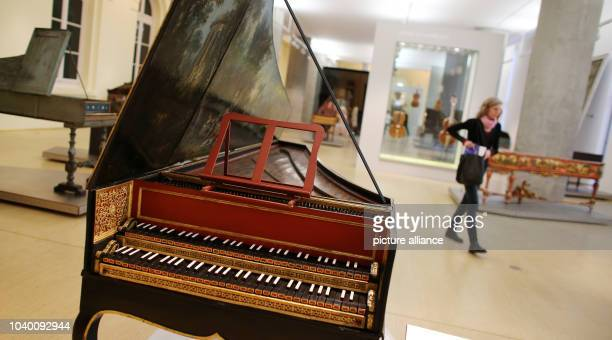 A harpsicord from 1730 in the exhibition Make Music from the Soul The World of Sound and Instrument Building at the Time of CPE Bach in the Museum...