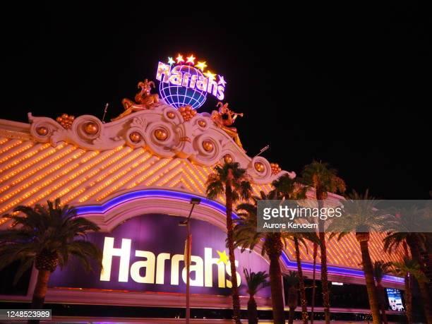 harrah's hotel in las vegas - harrah's stock pictures, royalty-free photos & images