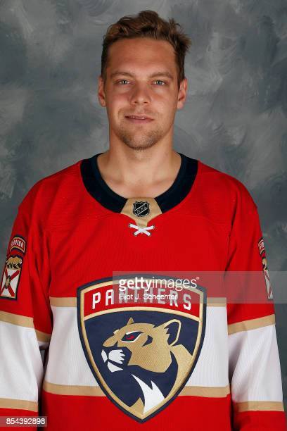Harri Säteri of the Florida Panthers poses for his official headshot for the 20172018 season on September 14 2017 at the BBT Center in Sunrise Florida