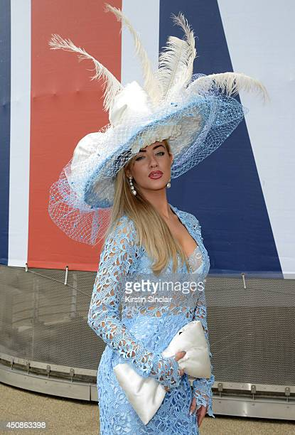 Harriadnie Beau attends day three of Royal Ascot at Ascot Racecourse on June 19 2014 in Ascot England