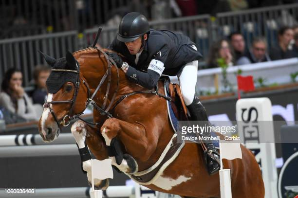 Harrie Smolders for Holland riding Emerald NOP during the Longines FEI Jumping World Cup Verona 2018 CSI5*W on October 28 2018 in Verona Italy