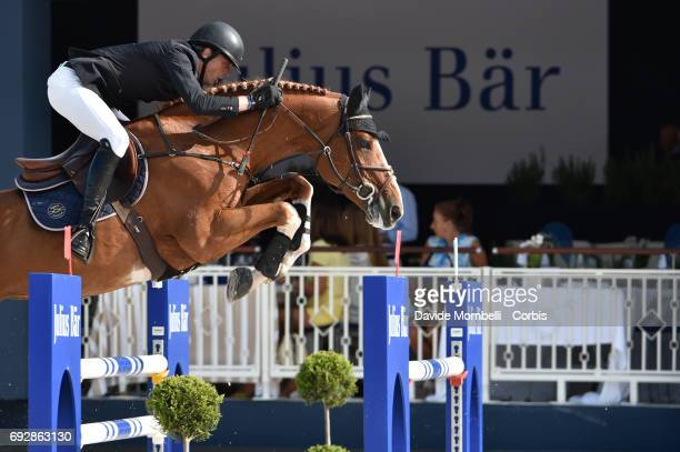 Harrie Smolders for Holland riding Emerald NOP during the Longines Grand Prix Athina Onassis Horse Show on June 3 2017 in St Tropez France