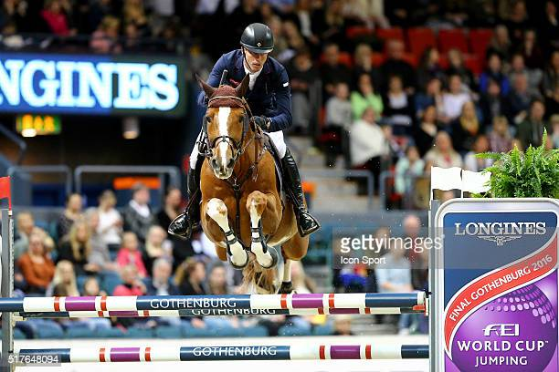 Harrie Smolders of Netherlands rides Emerald NOP during the Longines FEI World Cup Final Jumping on March 26 2016 in Gothenburg Sweden