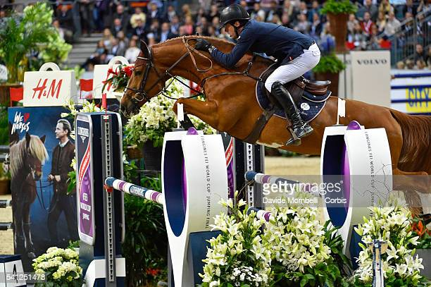 Harrie Smolders of Netherlands riding Emerald NOP during the Longines FEI World Cup Jumping Final event of the Gothenburg Horse Show at Scandinavium...