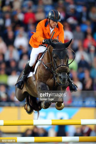 Harrie SMOLDERS riding DON VHP during the Prize of North RhineWestphalia of the World Equestrian Festival on July 21 2017 in Aachen Germany
