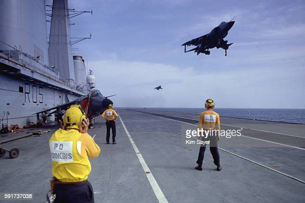 Harrier Jump Jet Leaves H.M.S. Invincible