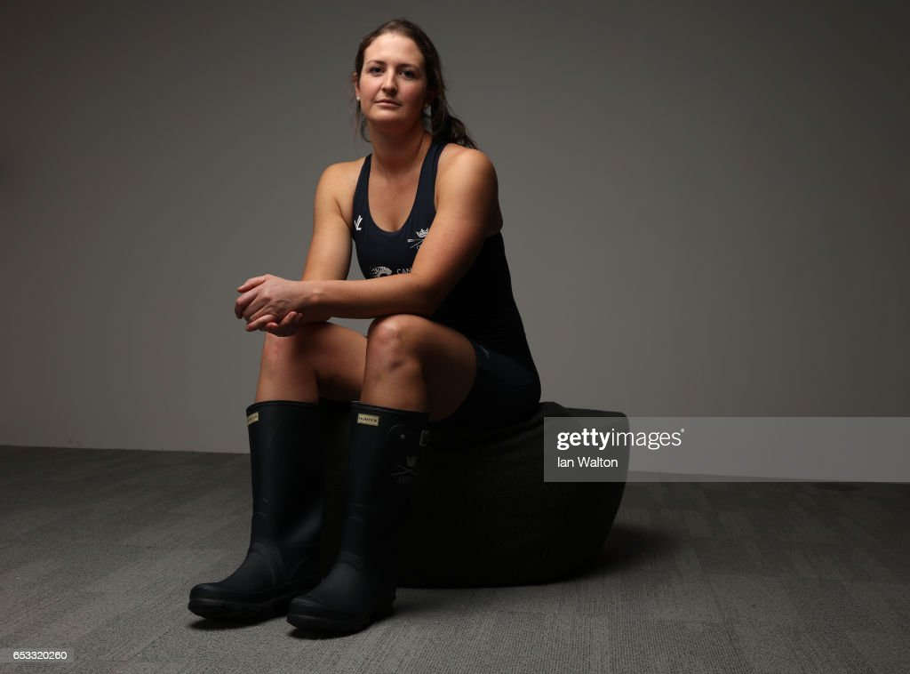 Harriet Austin of Oxford poses after the women's crew announcement for the 2017 Cancer Research UK University Boat Races at Francis Crick Institute on March 14, 2017 in London, England.