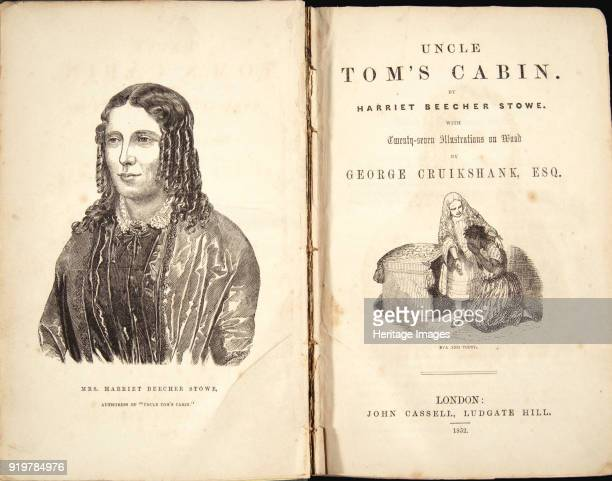 Harriet Beecher Stowe Frontispiece of Uncle Tom's Cabin or Life Among the Lowly by Voltaire 1852 Private Collection