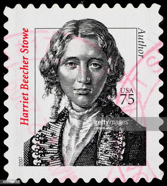 usa harriet beecher stowe postage stamp - harriet stock photos and pictures