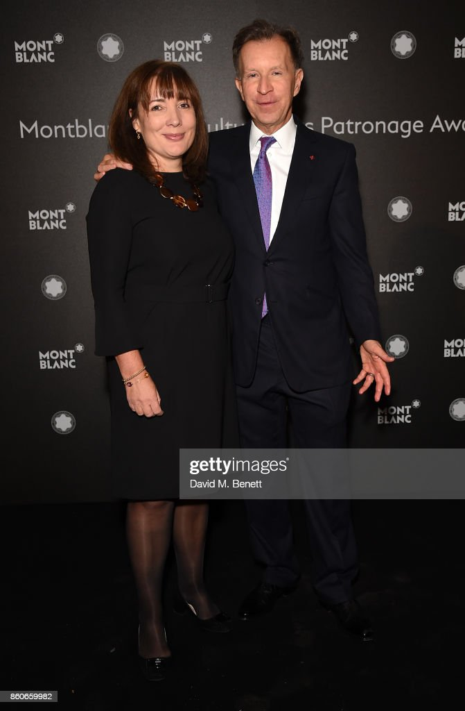 Harriet Capaldi and John Studzinski attend the Montblanc de la Culture Arts Patronage Award for the work of the Genesis Foundation at The British Museum on October 12, 2017 in London, England.