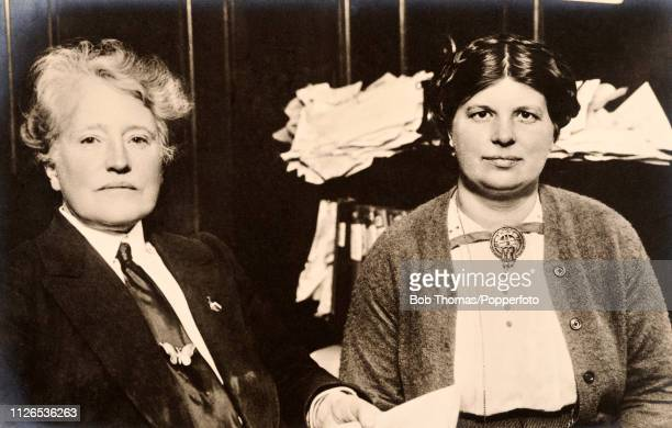 Harriet Carr and Beatrice Saunders English suffragettes and officers in the Women's Social and Political Union who were arrested for women suffrage...