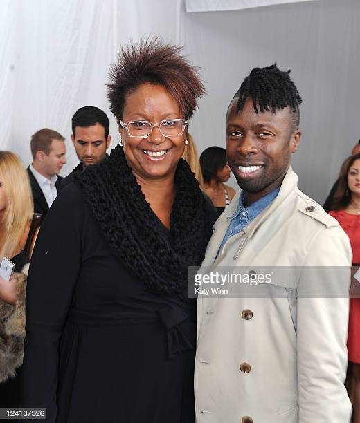 Harriet Cole and Fashion Director and Stylist of Vibe Magazine Memsor Kamarake seen around Lincoln Center during Spring 2012 MercedesBenz Fashion...