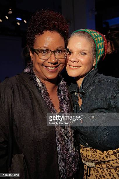 Harriet Cole and Michaela Angela Davis attend the Xuly Bet Front Row & Backstage during Fall 2016 New York Fashion Week: The Shows at The Gallery,...