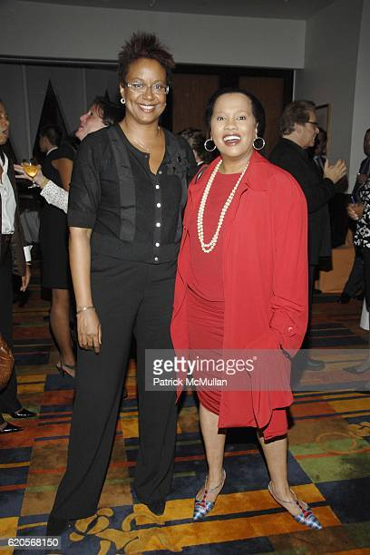 Harriet Cole and Sherry Bronfman attend DIAHANN CARROLL Book Party hosted by SUSAN FALESHILL at Le Cirque on September 30 2008 in New York City