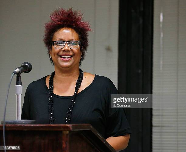 Harriet Cole speaks at the 8th Annual African American Literary Awards at Melba's Harlem on September 27 2012 in New York City