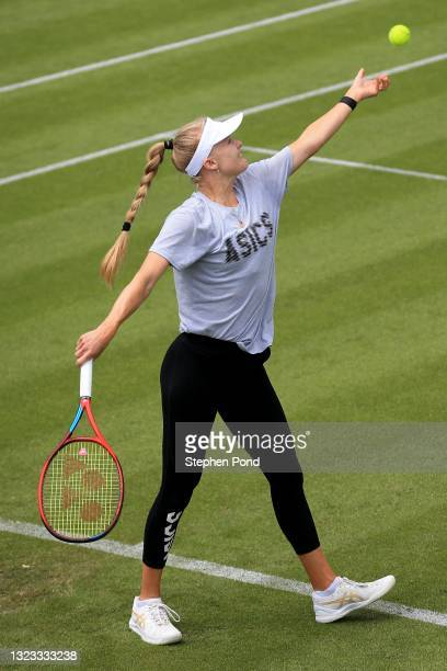 Harriet Dart of Great Britain in a practice session during the Viking Classic Birmingham at Edgbaston Priory Club on June 13, 2021 in Birmingham,...
