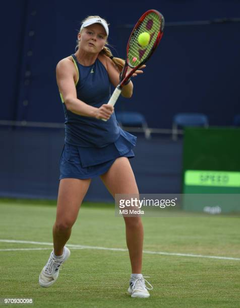 Harriet Dart on Day Six of the Fuzion 100 Surbiton Trophy at the Surbiton Racket & Fitness Club on June 7 , 2018 in Surbiton,England