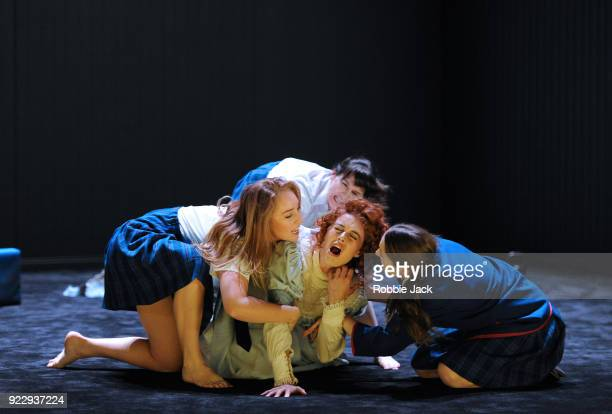 Harriet GordonAnderson Nikki Shiels Arielle Gray and Elizabeth Nabben in Malthouse Theatre / Black Swan State Theatre's production of Joan Lindsay's...