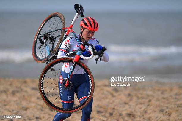 Harriet Harden of United Kingdom / Sea / Sand / during the 72nd UCI Cyclo-Cross World Championships Oostende 2021, Women U23 / @UCI_CX / #CXWorldCup...