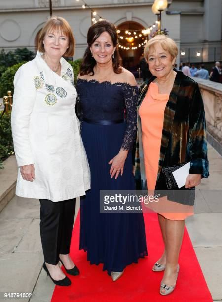 Harriet Harman Jacqui Brunjes and Margaret Hodge attend the ENO Gala 2018 A Celebration of Women in Opera at Gibson Hall on April 19 2018 in London...