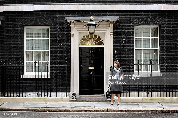 Harriet Harman the Deputy Leader of the Labour Party leaves Number 10 Downing Street after the weekly Cabinet meeting on February 23 2010 in London...