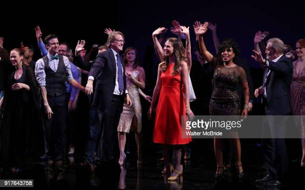 Harriet Harris Gavin Creel Dick Scanlan Sutton Foster Sheryl Lee Ralph Marc Kudisch and Kate Baldwin during the curtain call bows for the Actors...
