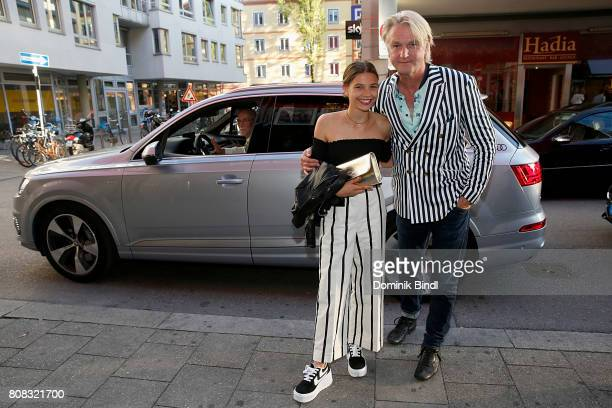 Harriet HerbigMatten and Detlev Buck during the premiere of ''Das Pubertier'' at Mathaeser Filmpalast on July 4 2017 in Munich Germany