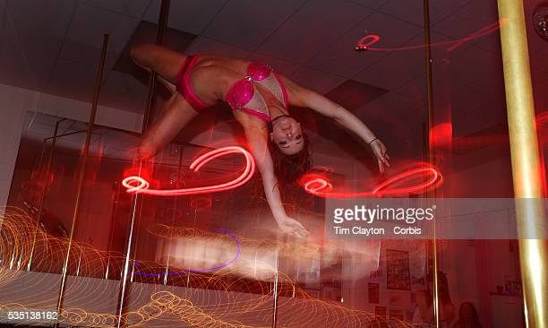 Harriet Kelsall pole dancing during the Queenstown Pole Studios end of year show at the Queenstown Pole Studio Gorge Road Queenstown South Island New...