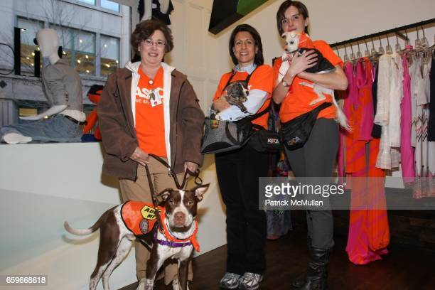 Harriet Levine Eggy Kathleen Sartoris Jake Ania Poinvil and Lucky attend Tibi / ASPCA Event n Shop For A Cause at Tibi Store on March 25 2009 in New...