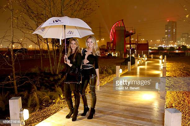 """Harriet Loder and Kimberley Garner attend an exclusive party to celebrate the imminent arrival of """"City Island by Ballymore"""" - a new island..."""
