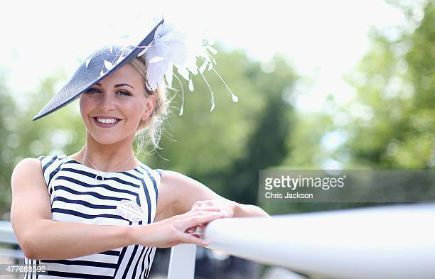Harriet Norbury arrives on day 4 of Royal Ascot at Ascot Racecourse on June 19 2015 in Ascot England