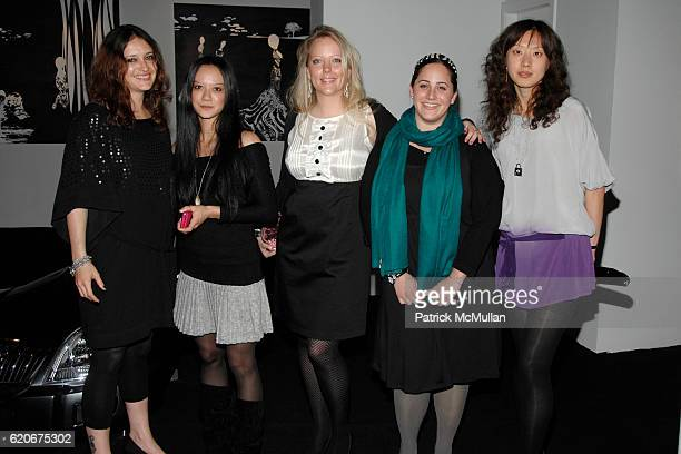 Harriet Onslow Mai Ardia Megan Leckie Allison Gorsuch and Moxian Sun attend FERRAGAMO 80th Anniversary Private Dinner hosted by PEARL LAM at The home...