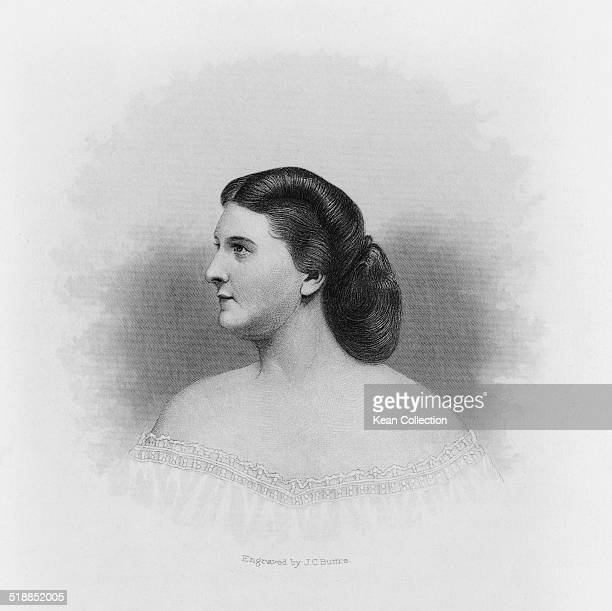 Harriet Rebecca Lane Johnston First Lady of the United States during the presidency of her uncle James Buchanan circa 1860 From an original engraving...