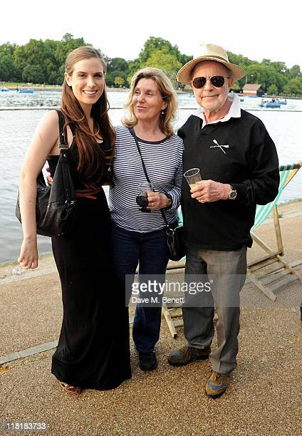 Harriet Roeg and Nicholas Roeg attend Chucs Dive & Mountain Shop Swim Party in aid of charity: water at The Serpentine on July 4, 2011 in London,...
