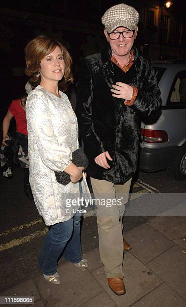 Harriet Scott and Chris Evans during Chris Evans Sighting at the Groucho Club in London April 10 2006 at Groucho Club in London Great Britain