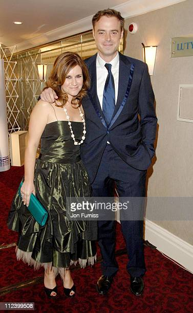 Harriet Scott and Jamie Theakston during 2007 Sony Radio Academy Awards Inside at Grosvenor House Hotel in London Great Britain