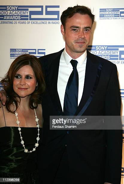 Harriet Scott and Jamie Theakston during Sony Radio Academy Awards 2007 Outside Arrivals at Grosvenor House Hotel in London United Kingdom