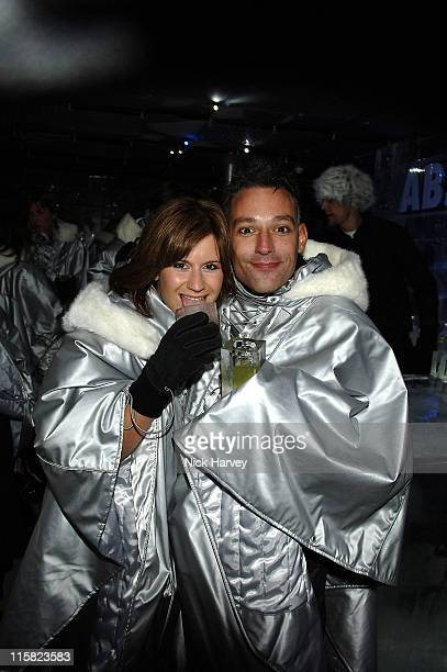 Harriet Scott and Toby Anstis during Absolut Icebar Launch Party Inside at Absolut Icebar in London Great Britain