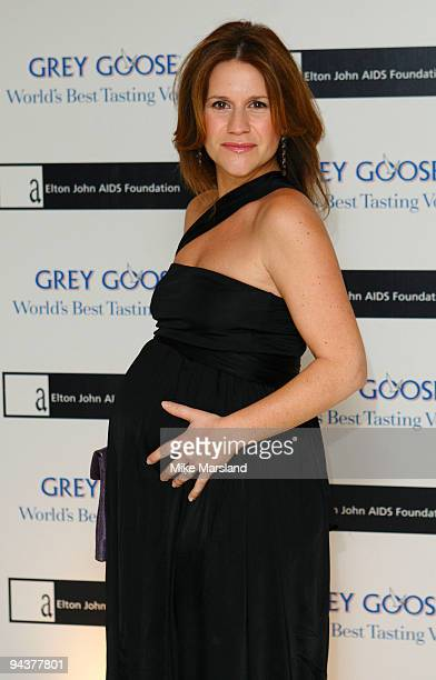 Harriet Scott attends the Grey Goose Character Cocktails winter fundraiser in aid of the Elton John AIDS Foundation at The Grosvenor House Hotel on...
