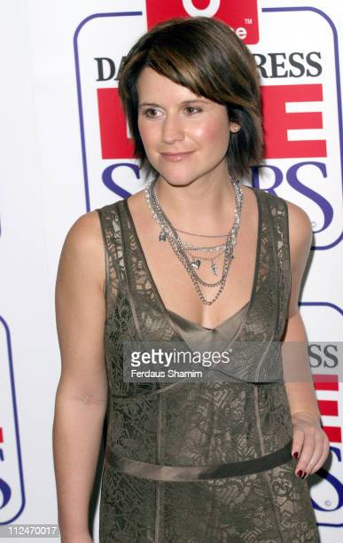 Harriet Scott during Daily Express and Vodafone Lifesavers Awards 2004 at The Savoy Hotel in London Great Britain