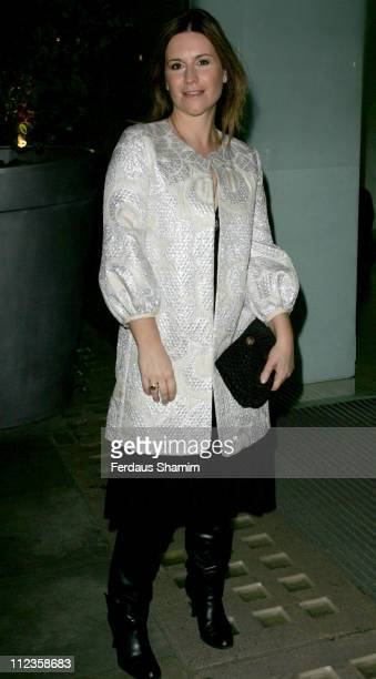 Harriet Scott during English National Ballet Celebrity Party 2006 at StMartins Hotel in London Great Britain