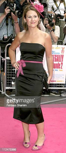 Harriet Scott during Legally Blonde 2 Red White Blonde London Premiere Arrivals at Warner Cinema Leciester Square in London Great Britain