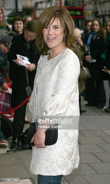 Harriet Scott during Movin' Out London Premiere Outside Arrivals at Apollo Victoria Theatre in London Great Britain